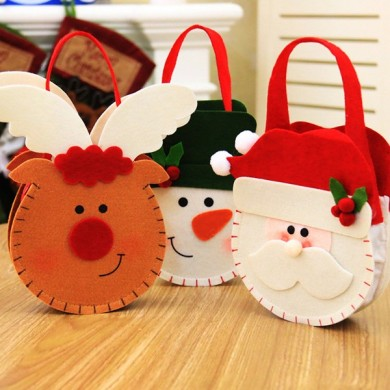 Creative Cartoon Christmas Gift Bag Candy Bag Apple Gift Bag