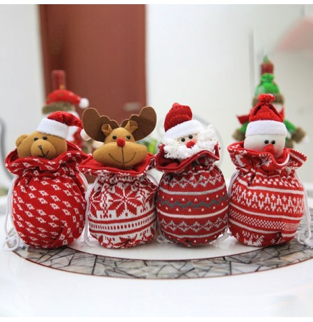 Christmas Creative Apple Bag Candy Biscuit Bag Gift Bag