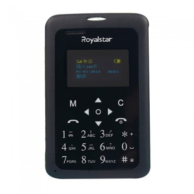 Royalstar W102 1.0 Inch MTK6261D 2G GSM Mini Pocket Card Mobile Phone