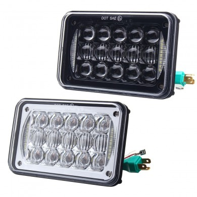4X6'' H4 5D LED Headlights Lamp Bulb Hi/Low Beam DRL for Truck SUV Off Road Car 48W 2400LM