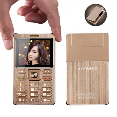 SATREND A10 1.77 Inch 480mAh Bluetooth GSM Metal Fuselage Ultra Thin Mini Card Phone