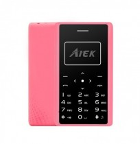Aiek X7 0.96 Inch 320mAh LED Torch 4.8mm Thickness Mini Card Mobile Phone