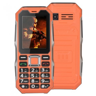 NC008 2.4 Inch 3800mAh Waterproof Dual Sim Strong Signal Long Standby Outdoor Mobile Phone