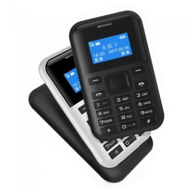 AEKU C8 0.96-inch 500mAh MP3 GPRS Low Radiation One Key Fast Dial Long Standby Mini Card Phone