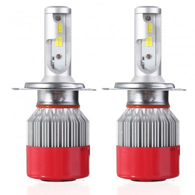 Pair 72W 7200LM LED Car Headlights Bulb Lamp IP65 6500K White H3 H4 H7 H11/H8 9005/9006