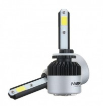 NightEye S2 COB LED Авто Фары H1 Лампы Лампы 72W 9000LM 6500K 2шт.