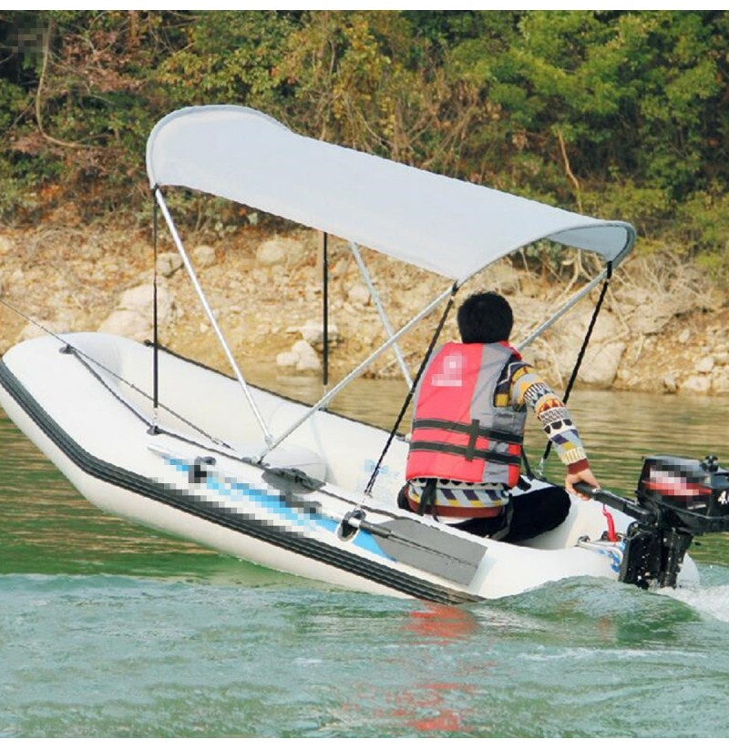 2-4 Person Inflatable Boat Foldable Anti-UV Tent Sunshade