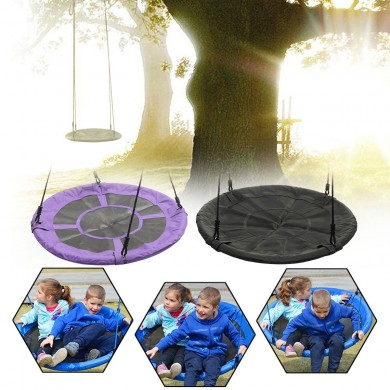Outdoor Yard Garden f40inch Children Kids Large Seat Round Tree Swing Hammock Chair Indoor