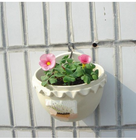 Small Wall Hanging Plastic Flowerpot