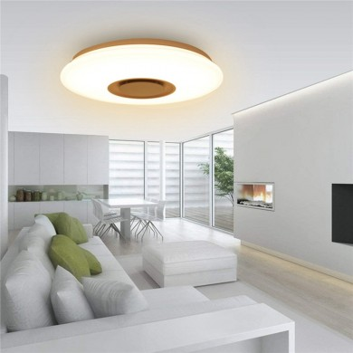24W LED Dimmable Bluetooth Speaker Lamp Ceiling Down Light Fixture APP Control AC110-220V