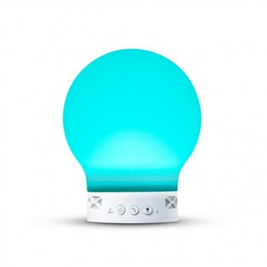 Loskii HC-111 ricaricabile elettronico Silica Gel Bluetooth altoparlante Radio Night Atmosphere Light S