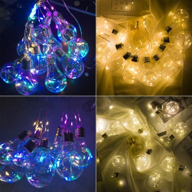 10 Lampadine Light Hanging LED String Light Firefly Decorazioni per matrimoni per feste Romantiche