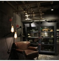 Retro Vintage Industrial Pendant Tube Iron Ceiling Lamp Hanging Chandelier Light