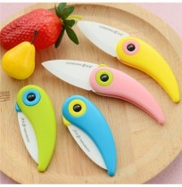 Honana Multi-color Bird Folding Mini Ceramic Knife Kitchen Tool Vegetable Fruit Knives
