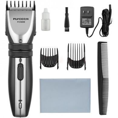Flyco FC5808 Global Voltage Mute Hair Clipper Trimmer Kits Stainless Steel Babies Adults