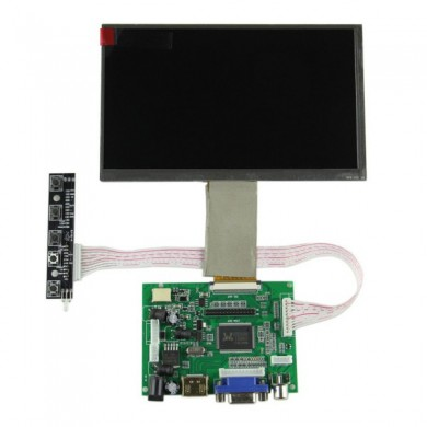 7 Inch HD Resolution 1024 x 600 LCD Desktop Digital HD Display Kit For Raspberry Pi