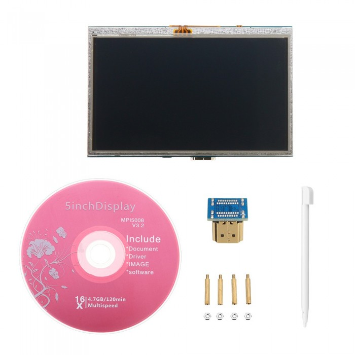 5 Inch Plug-and-Play 800 x 480 HD LCD Display Module With USB Touch Screen  For Raspberry Pi/Beaglebone Black/Udoo/Computer Stick