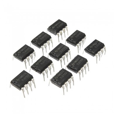 10pcs TL072 TL072CP DIP8 Chorus Delay Op Amps IC Chips