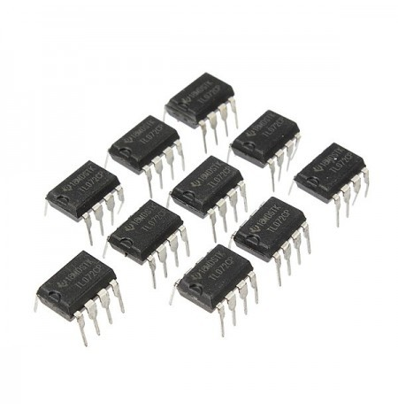 100pcs TL072 TL072CP DIP8 Chorus Delay Op Amps IC Chips