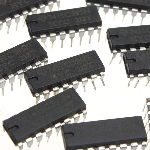 75pcs SN74HC595N 74HC595 74HC595N HC595 DIP-16 8 Bit Shift Register IC