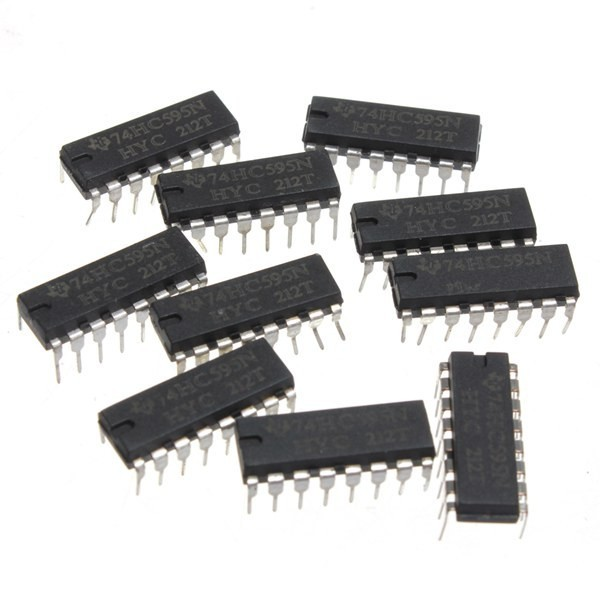 250pcs SN74HC595N 74HC595 74HC595N HC595 DIP-16 8 Bit Shift Register IC