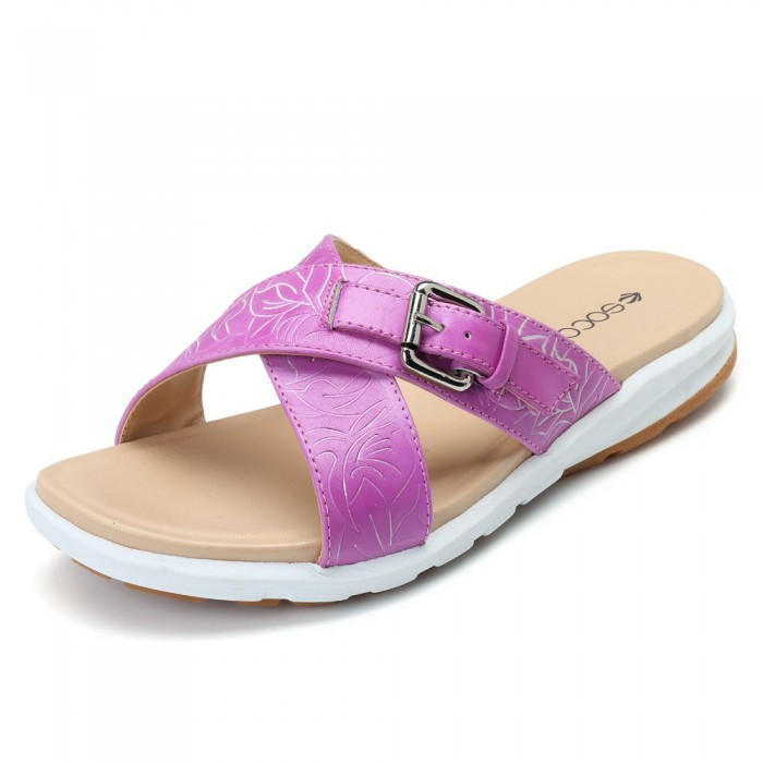 23f6d9d89 SOCOFY Leather Handmade Retro Casual Slippers