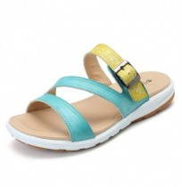 SOCOFY Stitching Color Casual Soft Flat Slippers
