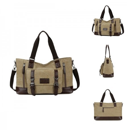 Men Canvas New Style Casual Shoulder Sling Bag Handbag