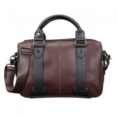 Men Retro PU Leather Handbag Business Crossbody Bag