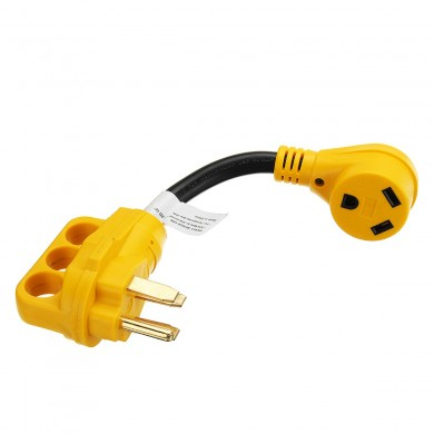 30AMP weiblich zu 50AMP Male Dogbone Adapter RV Boot Elektrokabel Kabel w / LED