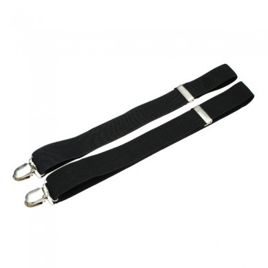 Mens Womens Fashion 4 Clips Black No Cross-strap Suspenders