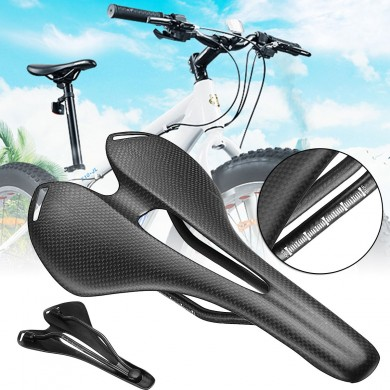 BIKIGHT Carbon Fiber Bike Bicycle Saddle Seat Hollow 3K Matte Ultralight Cycling Saddle For Road Bike MTB