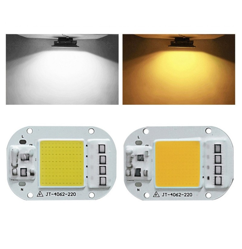 LUSTREON AC160-260V 20W 30W 50W White/Warm White COB LED Chip for DIY Flood Light (Color: White, Watt: 20W) фото