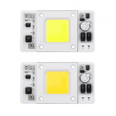LUSTREON 50W COB LED Chip Waterproof Light Source AC180-300V for DIY Spotlight Floodlight
