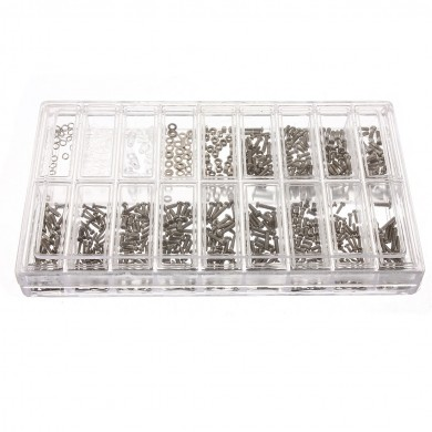 Assorted Watch Clock Eyeglassees Screws Repair Tool