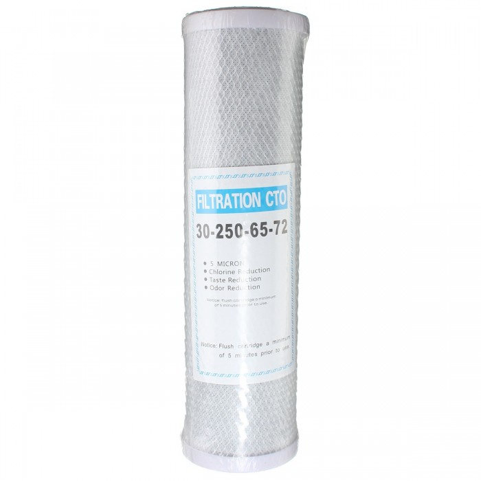 Replacement Activated Carbon Water 10 Inch Filter Whole House RO CTO 5 Micron