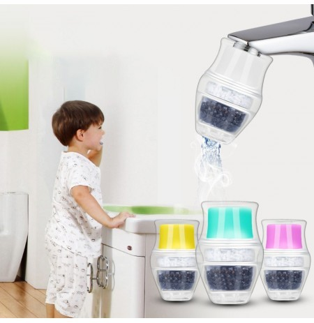 Carbon Water Faucet Mini Water Filter Faucet Tap Clean Purifier Filter Cartridge Water Purifier Faucet for Home Kitchen