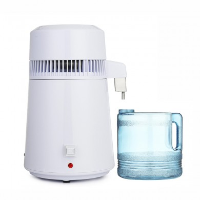 750W 4L Stainless Steel Electric Pure Water Distiller Purifier Internal Filter