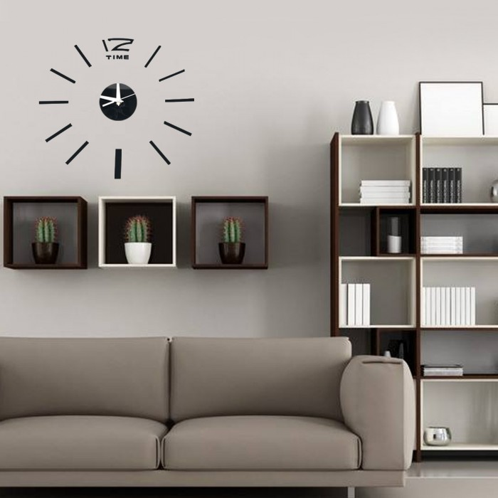 3d diy acrylic mirror sticker wall clock for home decoration living