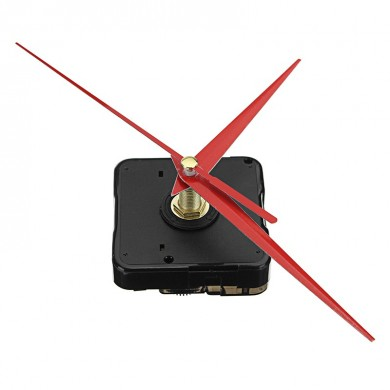 3pcs 20mm Shaft Length DIY Red Triangle Hands Silent Quartz Wall Clock Movement Mechanism For Replacement