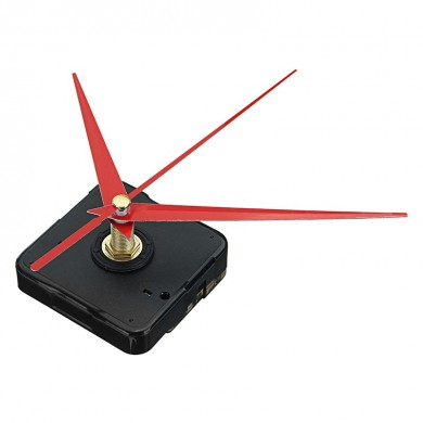 10pcs 20mm Shaft Length DIY Red Triangle Hands Silent Quartz Wall Clock Movement Mechanism For Replacement