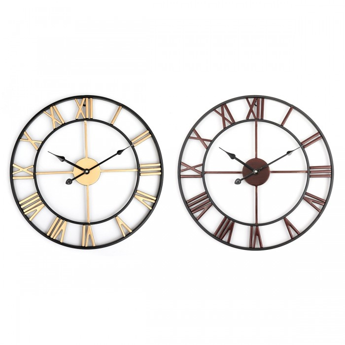 8623f43c12d2 45cm Large Wall Clock Big Roman Numerals Giant Open Face Metal For Home Outdoor  Garden