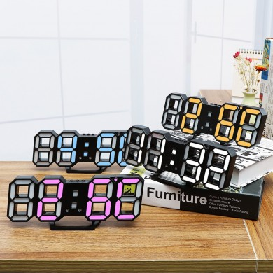 Large Modern Design Digital Led Wall Clock Watches 24 Or 12-Hour Display