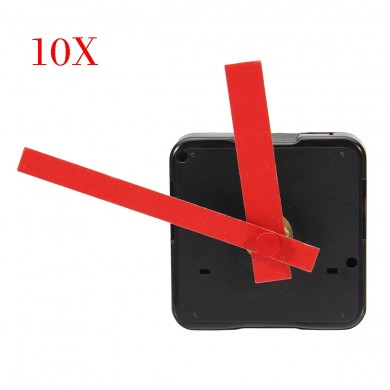 10pcs Silent DIY Quartz Clock Movement Mechanism Mute Hands Repair Tool Parts Kit