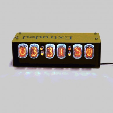 IN-12A Glow Tube Clock GPS Automatic Time With Electron Tube Over QS18-12