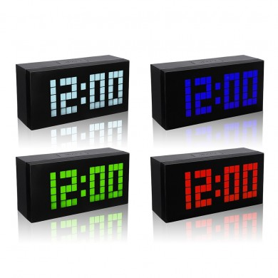 Big Display Large Alarm Clock Time Sveglia moderna Smart Clock Countdown Orologio digitale Snooze