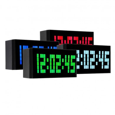 Big Jumbo Digital LED Wanduhr Großes Display Wanddekoration Uhr Multifunktions Tischkalender Despertador