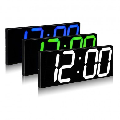 Remote Control LED Digital Wall Clock For School Home Decor Train Station Support Countdown Timer And Stopwatch