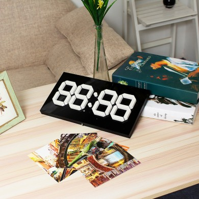 14 Inch Large 3D WIFI Remote Control Calendar Electronic LED Wall Clock