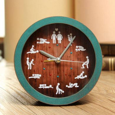 Funny Alarm Clock Creative Sessuale Desk Watches Retro Bell Silent 12 tipi di gesti